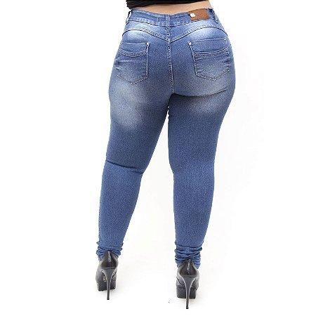 Calça Jeans Feminina Helix Plus Size Skinny Kettellyn Azul