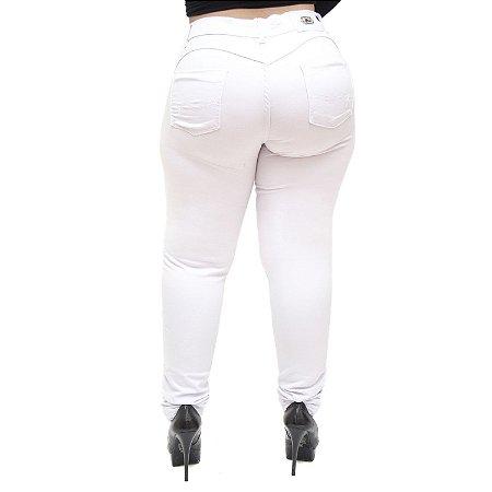 Calça Jeans Feminina MC2 Plus Size Skinny Elidiani Branca