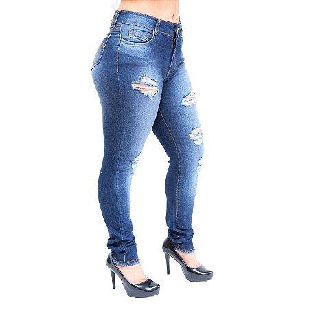 Calça Jeans Feminina Bokker Cigarrete Kevilyn Azul