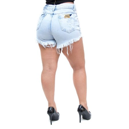Shorts Jeans Feminino 23 Graus Louanne Azul