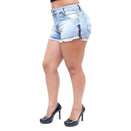 Shorts Jeans Feminino 23 Graus Elineia Azul