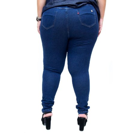 50404a018c Calça Jeans Feminina Cambos Plus Size Skinny Katyane Azul - Andando ...