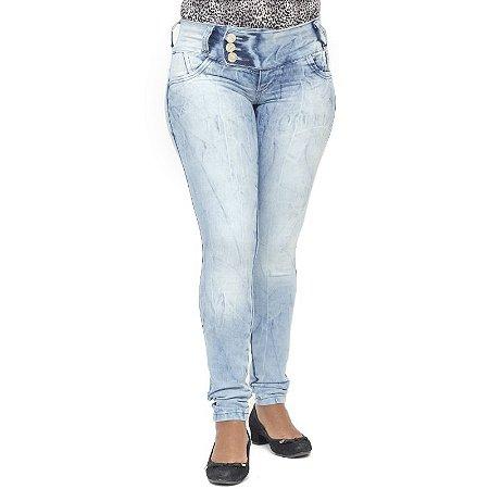 Calça Jeans Legging Credencial Marmorizada Levanta Bumbum