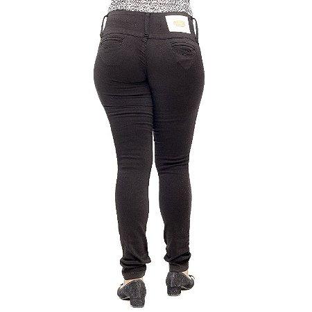 Calça Jeans Legging Feminina Hevox Preta Levanta Bumbum