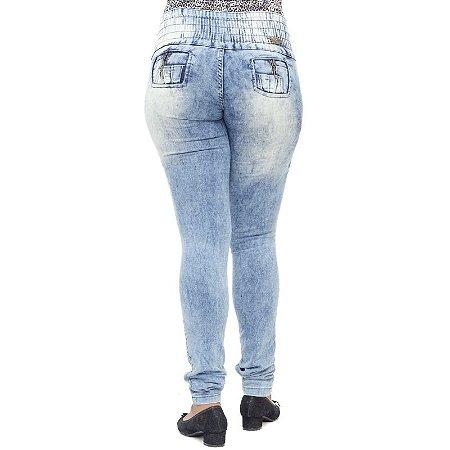 Calça Jeans Feminina Helix Manchada Levanta Bumbum