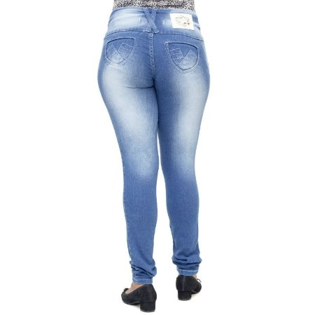 Calça Jeans Feminina Deerf Clara Modelo Legging Levanta Bumbum