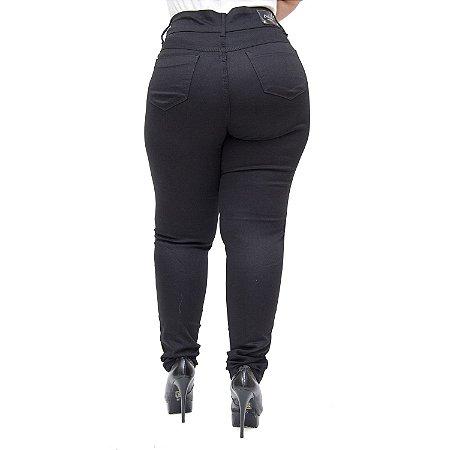 Calça Jeans Credencial Plus Size Reta Sulamitha Preta