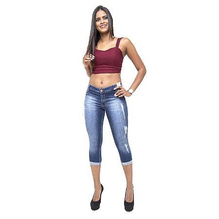 Calça Jeans Feminina Credencial Cropped Layara Azul