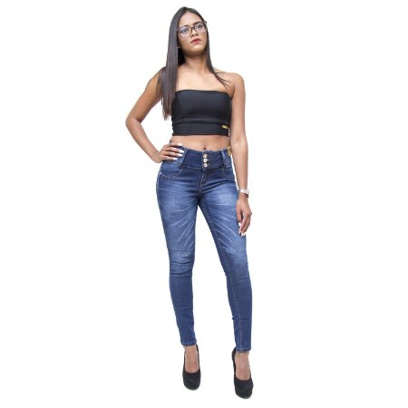 Calça Jeans Feminina Credencial Skinny Katilsa Azul