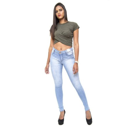 Calça Jeans Feminina Credencial Skinny Josina Azul