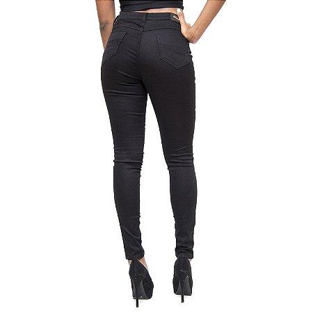 Calça Jeans Feminina Credencial Skinny Lusivania Preta