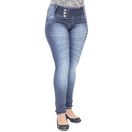 Calça Jeans Legging Feminina Credencial Azul Escura