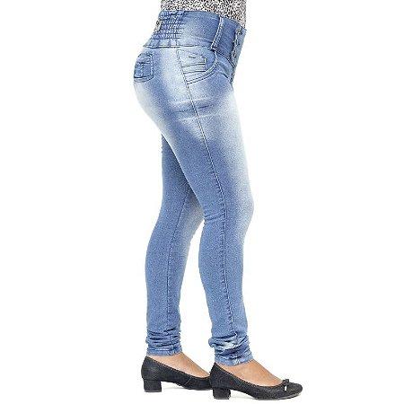 Calça Jeans Legging Feminina Credencial com Elástico na Cintura