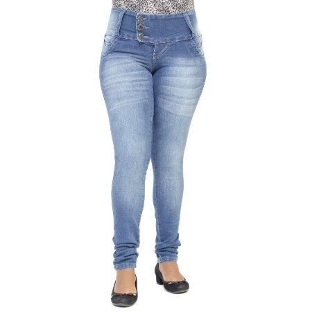 Calça Jeans Legging Credencial Azul Levanta Bumbum com Elastano