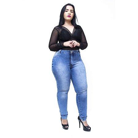 Calça Jeans Feminina Helix Plus Size Skinny Sezineth Azul