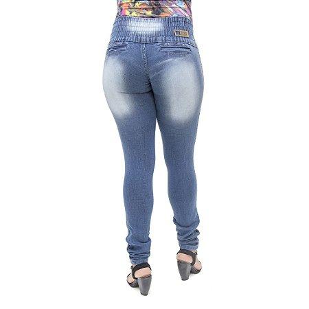 Calça Jeans Feminina Helix Azul Escuro com Elástico