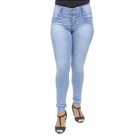 Calça Jeans Legging Feminina Meitrix Levanta Bumbum com Bolsos