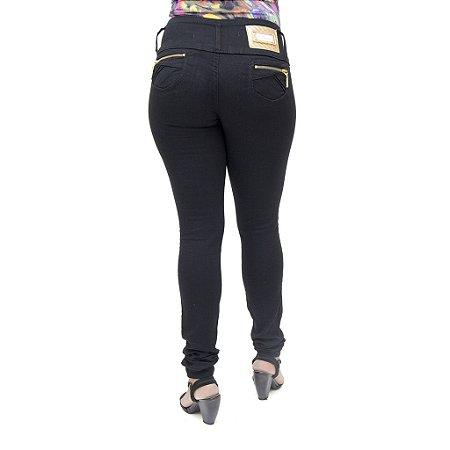 Calça Jeans Legging Feminina Credencial Preta Levanta Bumbum