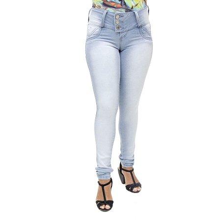 Calça Jeans Legging Feminina Credencial com Lavagem Clara com Elastano