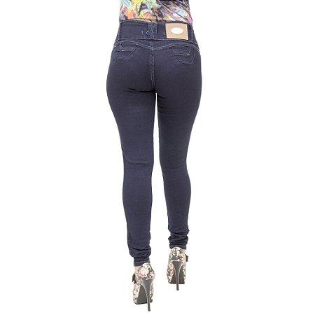 Calça Jeans Feminina Legging Helix Escura Levanta Bumbum Tradicional