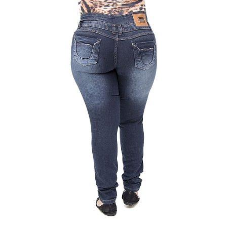 20069c7c8 Calça Jeans Feminina Legging Helix Plus Size Cintura Alta Levanta Bumbum