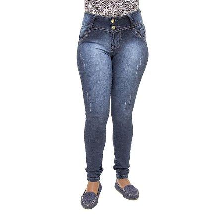 Calça Jeans Feminina Legging Meitrix Escura Levanta Bumbum