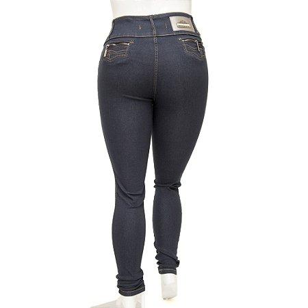 Calça Jeans Feminina Legging Credencial Plus Size Escura com Cintura Alta