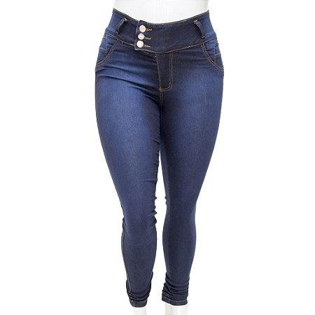 Calça Jeans Legging Feminina Credencial Plus Size Escura com Cintura Alta