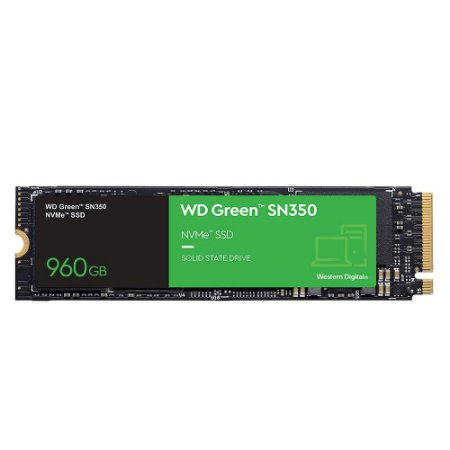 Ssd Wd Green M.2 2280 Sn350 960gb Pcie Nvme Wds960g2g0c
