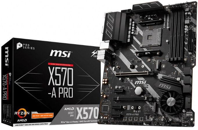 PLACA-MÃE MSI X570-A PRO AMD AM4 PCI-E 4.0