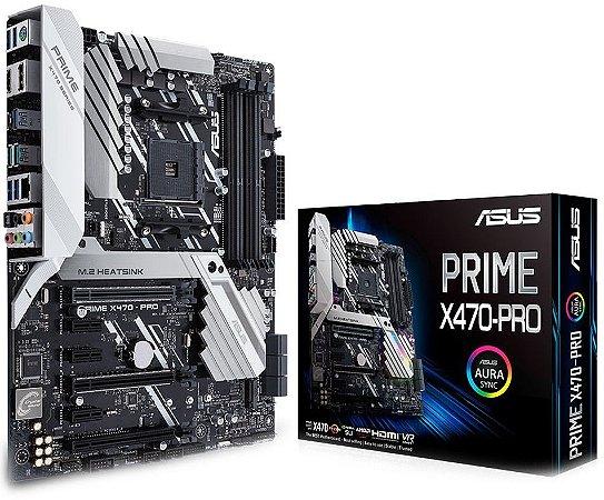 PLACA-MÃE ASUS PRIME X470-PRO AURA SLI AMD AM4