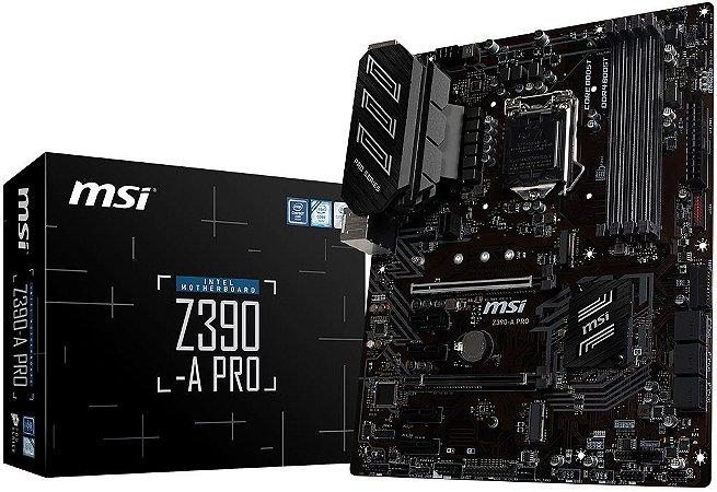 PLACA-MÃE MSI Z390-A PRO CROSSFIRE INTEL LGA 1151