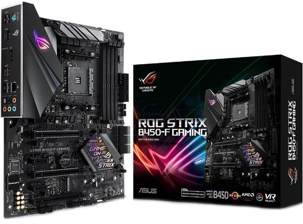 PLACA-MÃE ASUS ROG STRIX B450-F GAMING AURA CROSSFIRE AMD AM4 DDR4