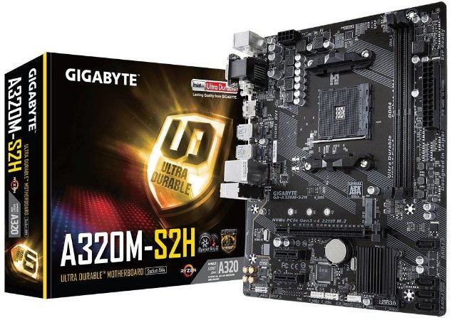 PLACA-MÃE GIGABYTE GA-A320M-S2H AMD AM4 DDR4
