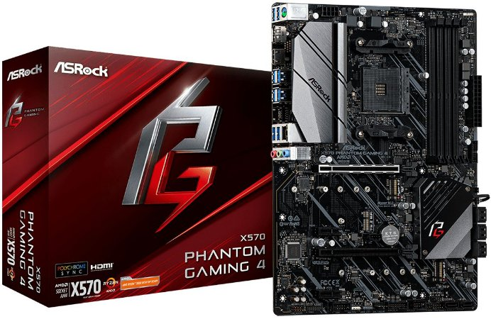 PLACA-MÃE ASROCK X570 PHANTOM GAMING 4 AMD AM4 PCI-E 4.0
