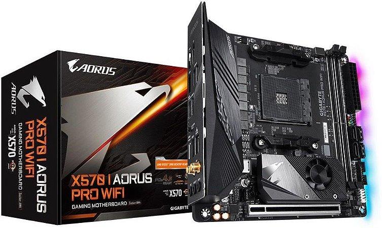 PLACA-MÃE GIGABYTE X570 I AORUS PRO WIFI AMD AM4 MINI-ITX