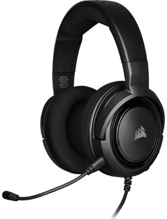 HEADSET GAMER CORSAIR HS35 CARBON PC XBOX PS4 SWITCH MOBILE