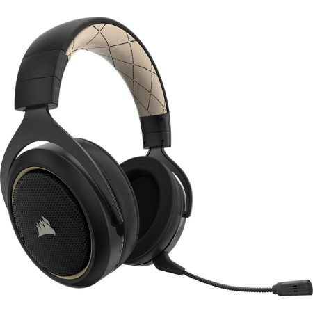 HEADSET GAMER CORSAIR HS70 SE WIRELESS CARBONO 7.1 SURROUND GOLD