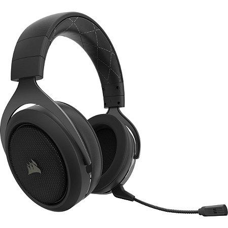 HEADSET GAMER CORSAIR HS70 7.1 WIRELESS CARBONO USB CA-9011179-NA