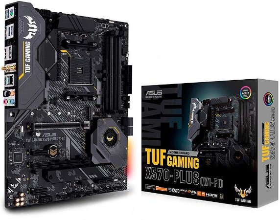 PLACA-MÃE ASUS TUF GAMING X570-PLUS WIFI CROSSFIRE AMD AM4 ATX