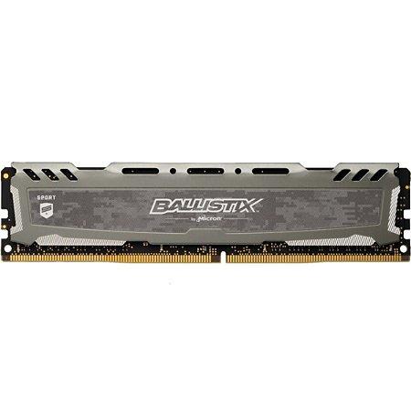 MEMÓRIA CRUCIAL BALLISTIX SPORT 8GB 2400MHZ DDR4 GREY