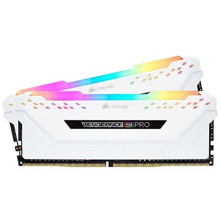 MEMÓRIA CORSAIR VENGEANCE RGB PRO 16GB (2X8GB) 2666MHZ DDR4 WHITE