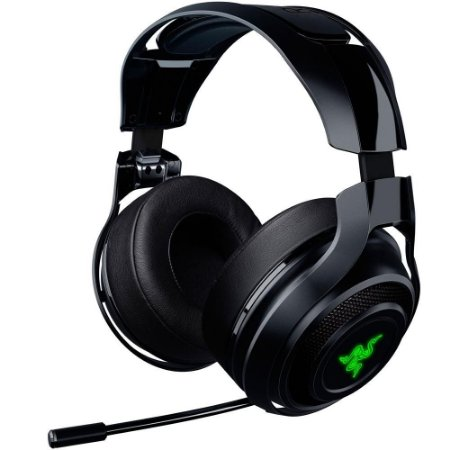 HEADSET GAMER RAZER MAN O'WAR CHROMA WIRELESS PC PS4 BLACK