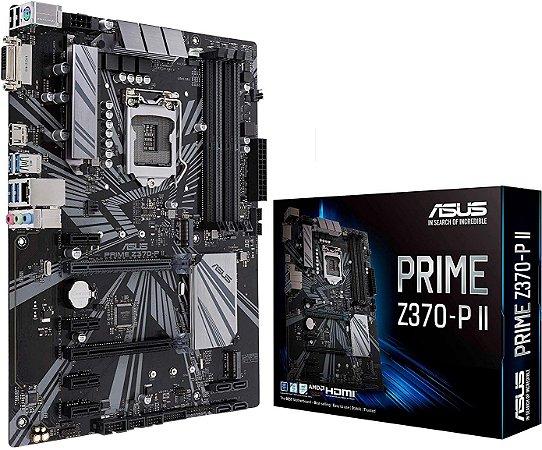 PLACA-MÃE ASUS PRIME Z370-P II CROSSFIRE USB 3.1 INTEL LGA 1151