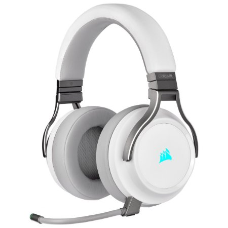 HEADSET GAMER CORSAIR VIRTUOSO RGB WIRELESS WHITE 7.1 SURROUND CA-9011186-NA