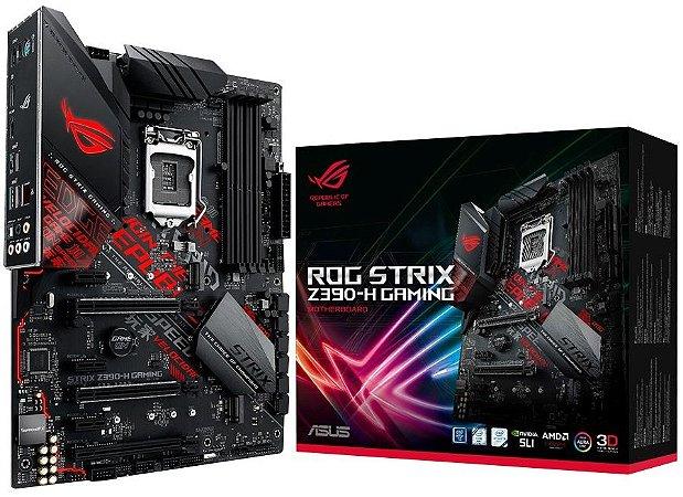 PLACA-MÃE ASUS ROG STRIX Z390-H INTEL LGA 1151 DDR4