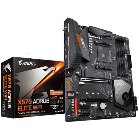 PLACA-MÃE GIGABYTE X570 AORUS ELITE WIFI PCI-E 4.0 AMD AM4