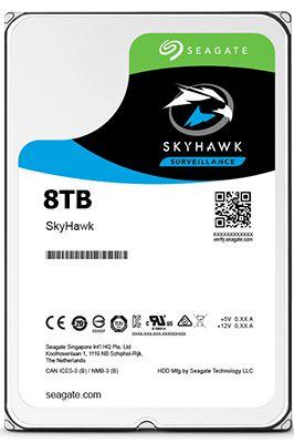 HD SEAGATE SKYHAWK SURVEILLANCE DVR 8TB 7200RPM 256MB ST8000VX0022