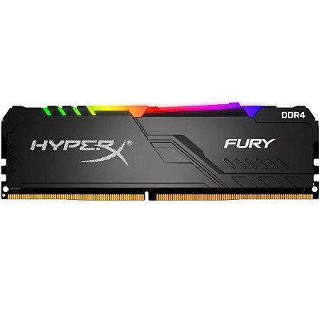 MEMÓRIA KINGSTON HYPERX FURY RGB 16GB 3200MHZ DDR4 BLACK HX432C16FB3A/16