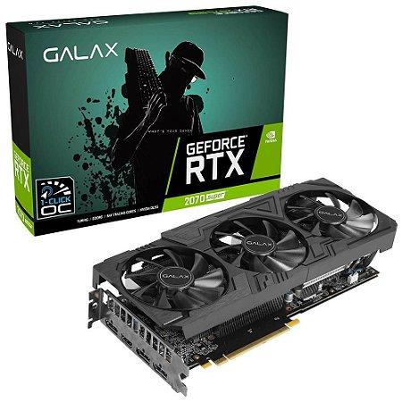 PLACA DE VÍDEO GALAX NVIDIA GEFORCE RTX 2070 SUPER EX GAMER BLACK EDITION 8GB GDDR6 256BITS